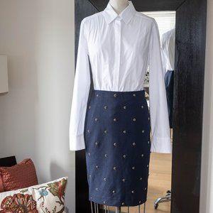 Dedicate Beaded Navy Skirt